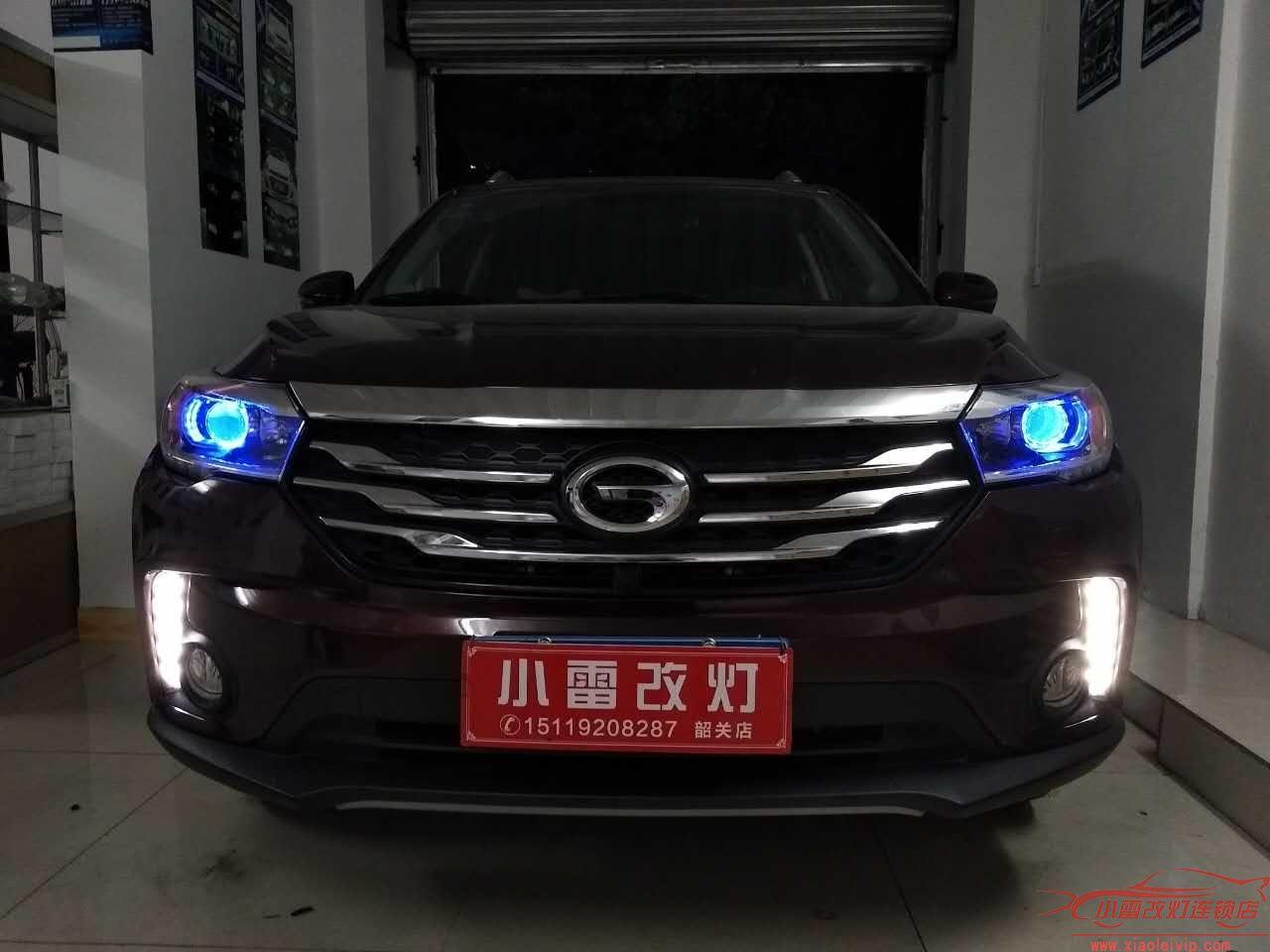 车灯升级实例 | 韶关店传祺GS4升级Q5透镜+恶魔眼+海迪远光氙气灯