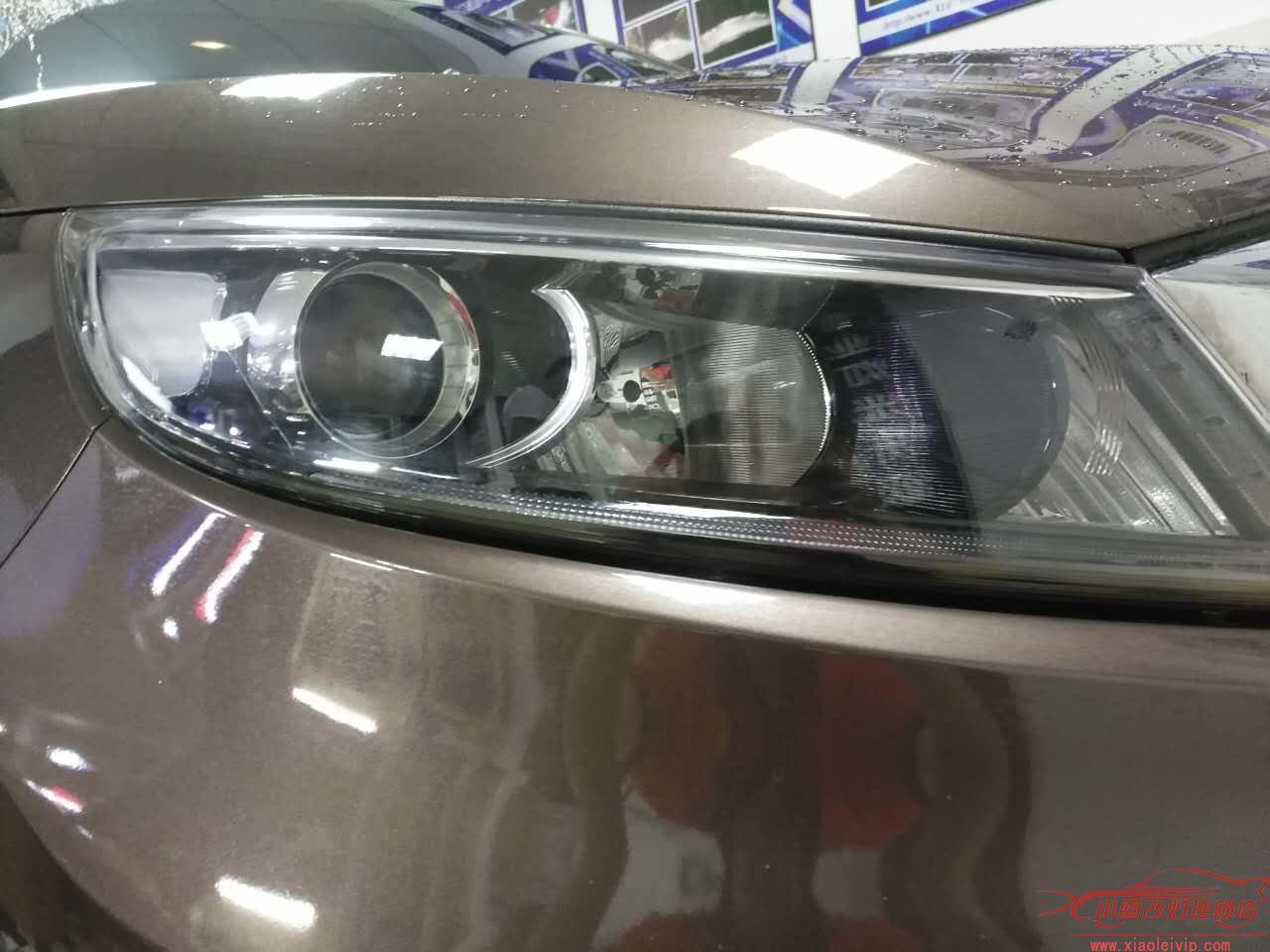 车灯升级实例 | 【小雷改灯】长沙店 起亚智跑升级海拉五双光透镜+欧司朗D3S安定飞利浦D3S灯泡
